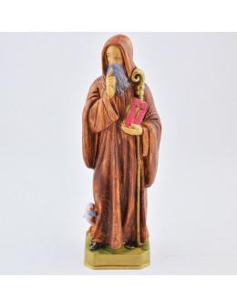 Statue Saint Benoit en résine 15 cm