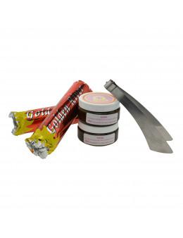 Pack 2 encens Ananda en pâte + 2 charbons 40mm + pince sabre offerts