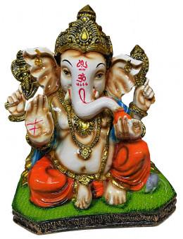 Ganesh en résine Orange & Vert 20cm