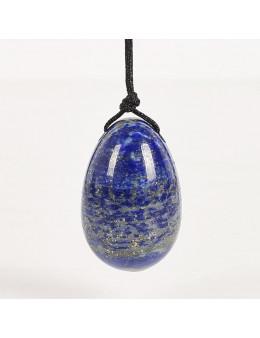 Oeuf de Yoni Lapis Lazuli 5cm avec lacets