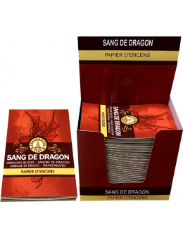 Papier d'encens Fragrances & Sens Sang de Dragon