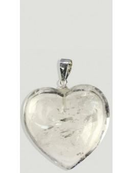 Coeur en Argent Cristal de Roche
