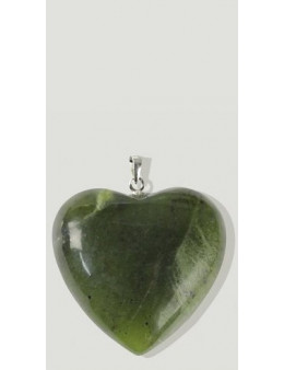 Coeur en Argent Jade Néphrite