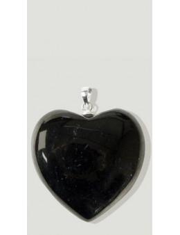 Coeur en Argent Shungite