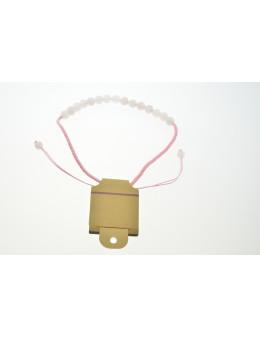 Collier macramé avec perles facettées Quartz Rose