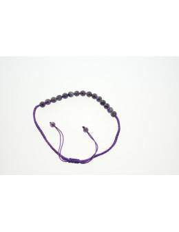 Collier macramé avec perles facettées Améthyste