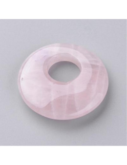 Donut Pendentif Ovale Quartz Rose