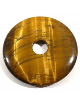 Pendentif Donut Oeil de Tigre 35mm