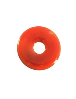Pendentif Donut Cornaline 35mm