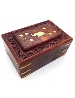 Boîte à Bijoux Bois Eléphant