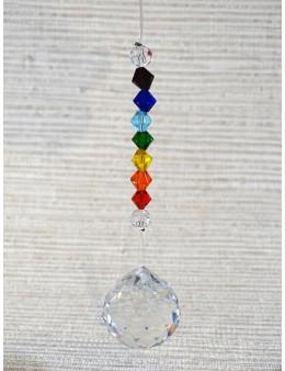 Boule à facette Cristal avec Suspension Chakra