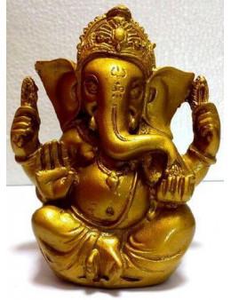Statue Résine Ganesh Or 13cm