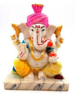 Statue Résine Ganesh Multi 13cm