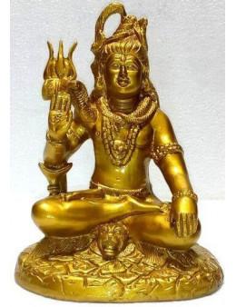 Statue Résine Shiva Or 18cm