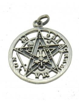 Pendentif Tétragrammaton cerclé en argent 20 mm