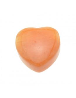 Pendentif Coeur Calcite orange