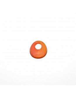 Pendentif Donut Ovale Cornaline 30mm