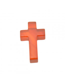 Pendentif croix en Cornaline