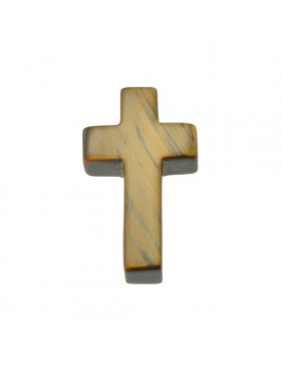Pendentif croix en Oeil de Tigre