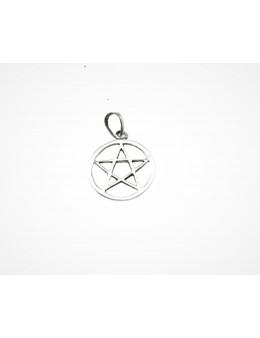Pendentif Pentagramme cerclé en argent 16 mm