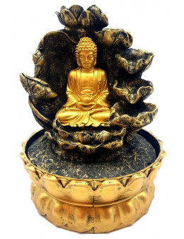 Fontaine Résine Ganesh Double Cascade LED 30cm