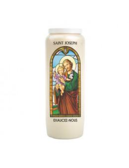 """Bougie de neuvaine  """"vitrail""""  Sacré Coeur  de Jésus"""