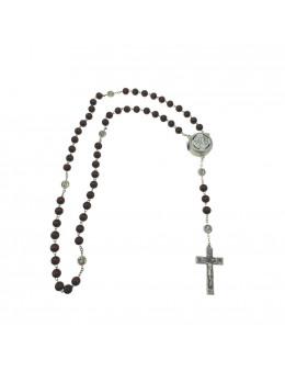 Chapelet chaine Apparition Notre Dame de Lourdes avec coeur électonique