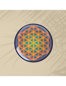 Symbole 3D autocollant Fleur de vie