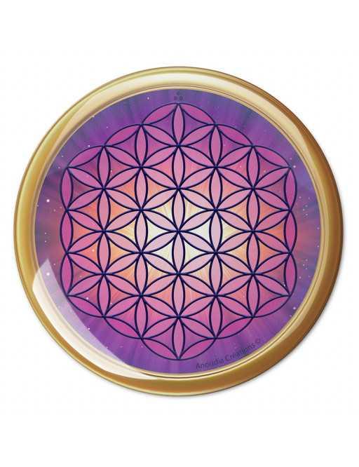 Symbole 3D Autocollant Fleur de Vie cosmique