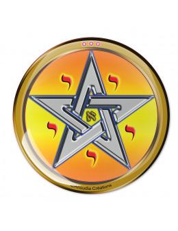 Symbole 3d autocollant Pentagramme