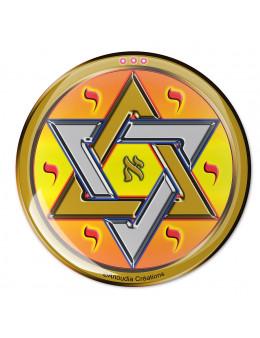 Symbole 3D Autocollant Etoile de David/sceau de salomon