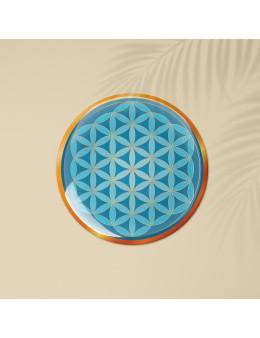 Symbole 3D autocollant Fleur de vie amour transcendantal