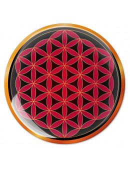 Symbole 3D autocollant Fleur de vie splendeur terrestre