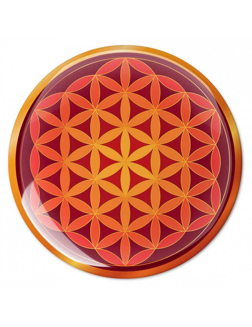 Symbole 3D autocollant Fleur de vie extase sacrée