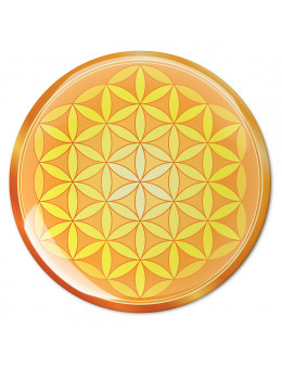 Symbole 3D autocollant Fleur de vie esprit flamboyant