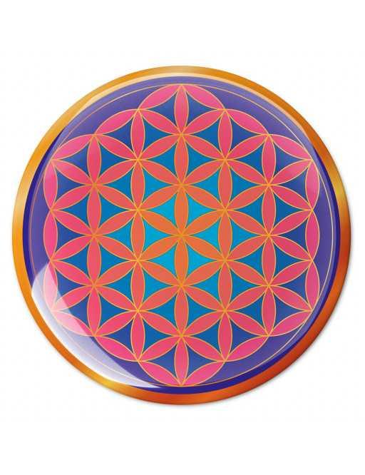 Symbole 3D autocollant Fleur de vie sublime création