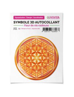 Symbole 3D Autocollant Fleur de vie radieuse