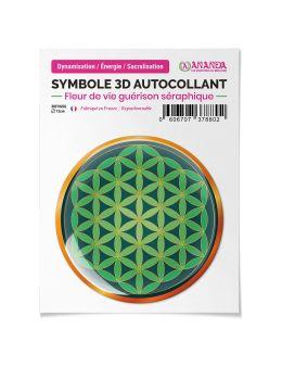 Symbole 3D autocollant Fleur de vie guérison séraphique