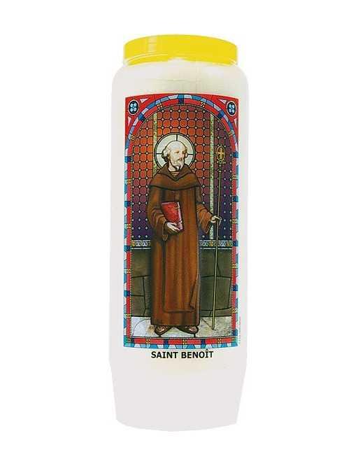 Neuvaine vitrail : Saint Benoît