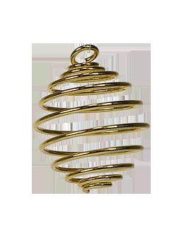 Porte pierre - Spirale dorée
