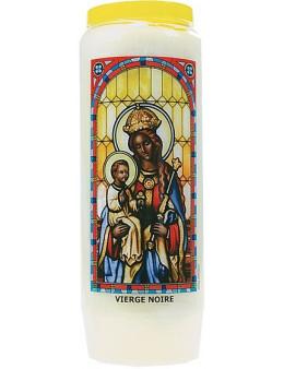 Neuvaine vitrail : Vierge noire