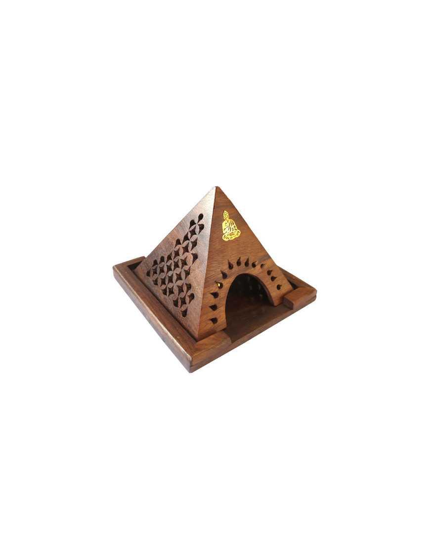 Porte encens cones en bois pyramide ganesh