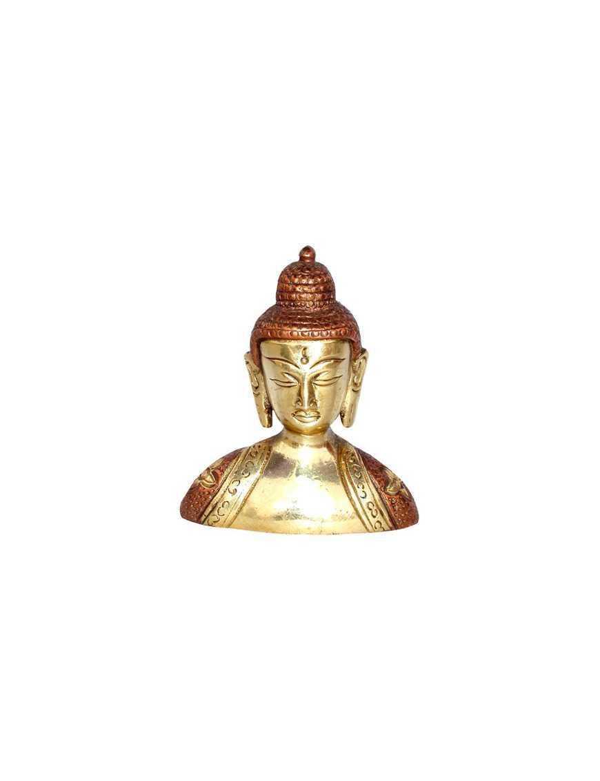 Buste de bouddha tibet en bronze