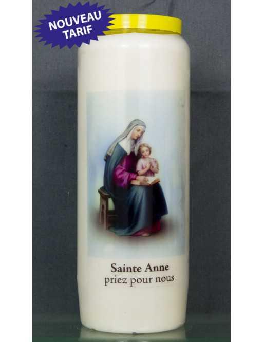 Bougie de neuvaine Ste Anne + prière