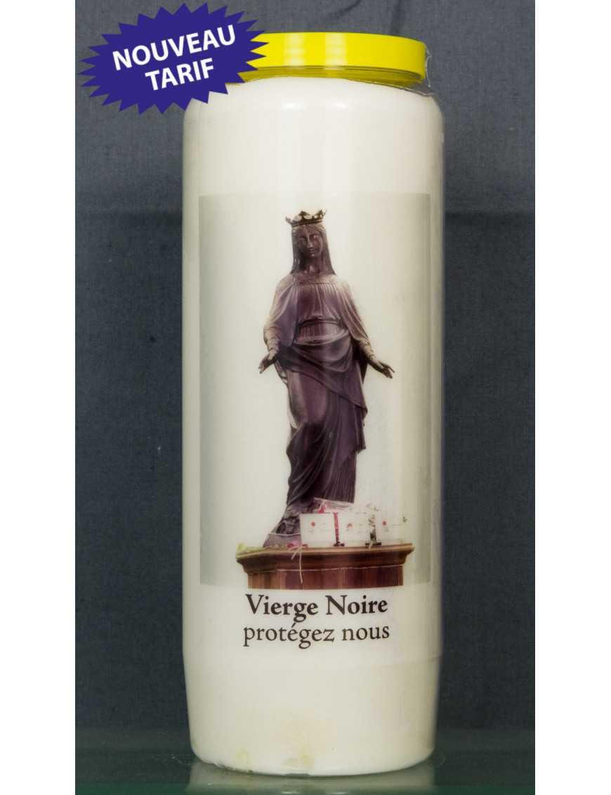 Bougie de neuvaine Vierge noire + prière