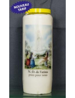 Bougie de neuvaine Fatima + prière