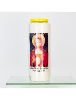 Bougie de neuvaine M-Madeleine + prière