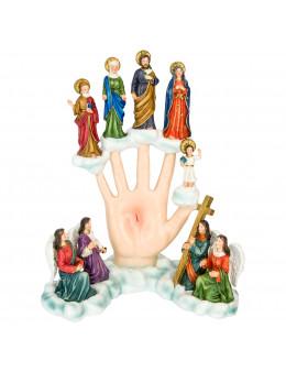 Statue résine peinte à la main Main Puissante 28 cm