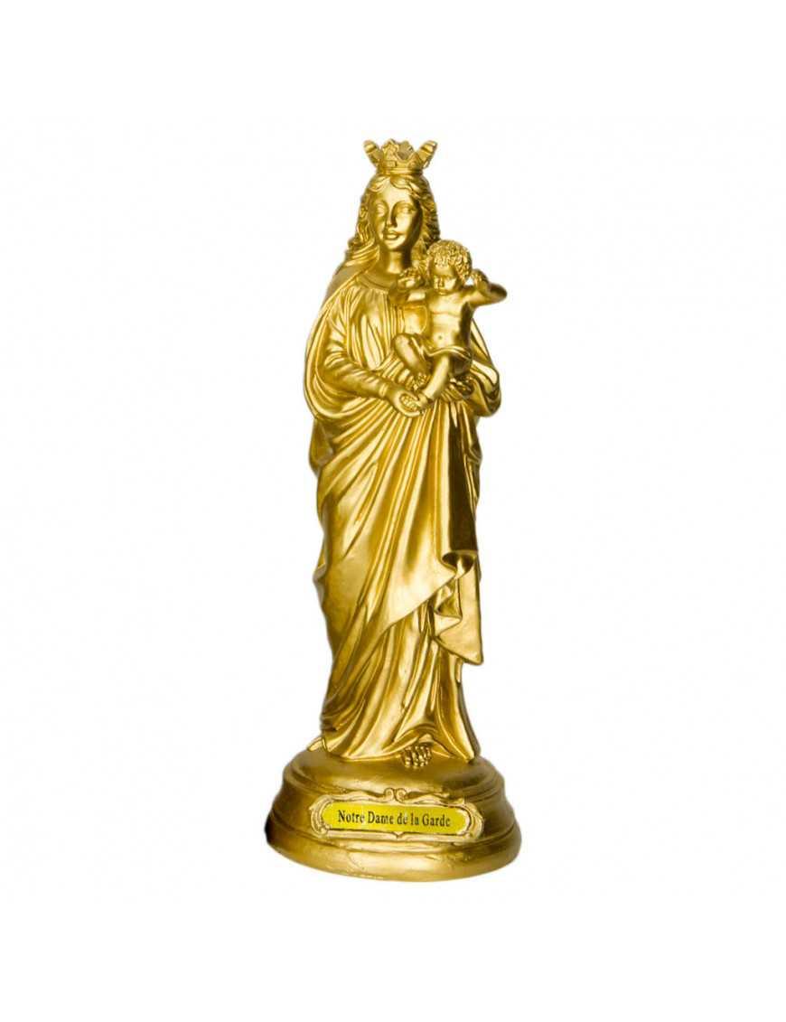 Statue résine peinte à la main Notre Dame de la Garde 20 cm