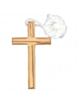 Croix en olivier 9.5 cm + cordon